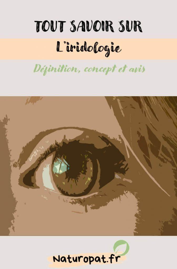 Infographie sur l'iridologie